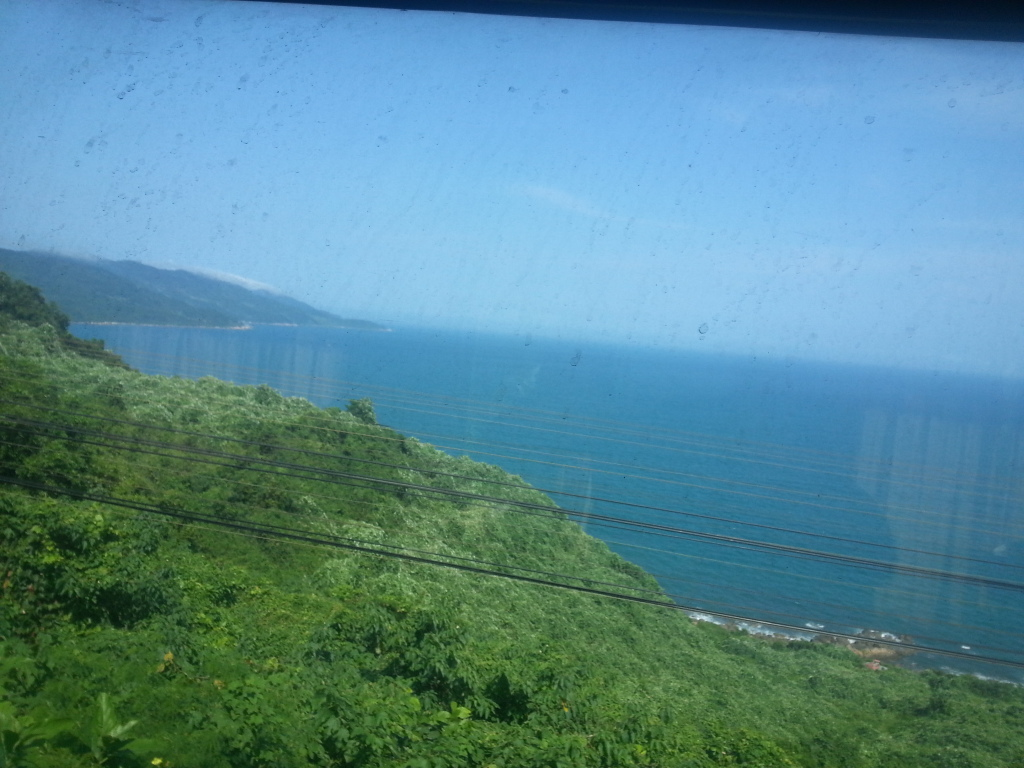 The view from the window of the train from Da Nang to Hue