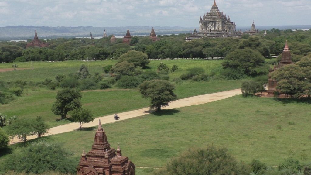 The view of Bagan temples is incredible.